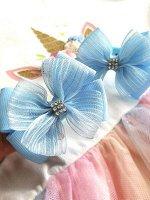 Бант Радость голубой с органзой