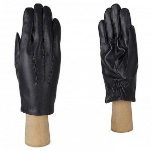 Зимние кожаные мужские перчатки FABRETTI 12.42-12 blue