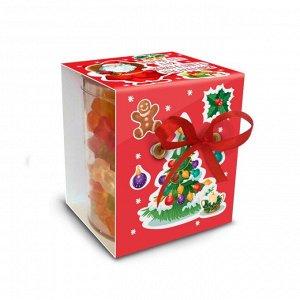 """Мармелад Мармелад """"Для новогоднего настроения(красный)"""" Внутри коробочки мармелад-ассорти (ассорти может в себя включать такие виды, как - мишки, буквы, сердечки, червячки и десерты)  Размер упаковки:"""