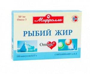 Рыбий Жир Обогащенный Витаминами А, Д, Е Капс. 370Мг №100 (Бад)