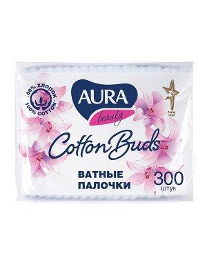 Ватные палочки AURA 300 шт пакет