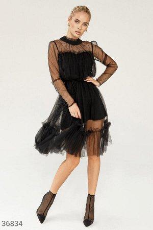 Воздушное платье с оборками
