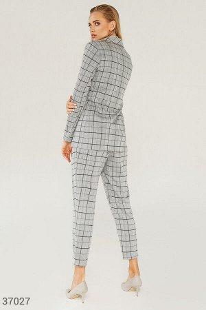 Клетчатые брюки прямого кроя