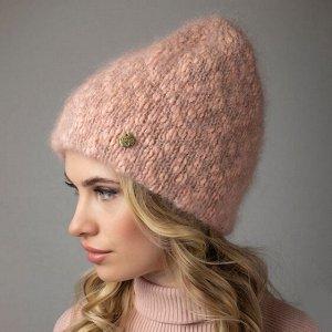 Шапка женская 57-58 цвет розовая пудра (на фото)