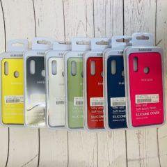 Samsung Galaxy A20S Silicon Case Original (красный) с микрофиброй,софт-тач,фирменная упаковка,все наклейки,серийный номер