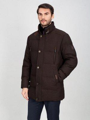 4076 ПШ M GREG DK BROWN/Куртка мужская (пуховик)