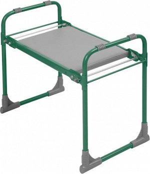 Скамейка садовая с мягким сиденьем СКМ (зеленый)