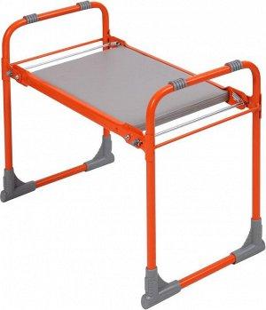 Скамейка садовая с мягким сиденьем СКМ (оранжевый)