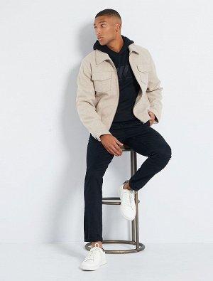 Куртка из материала под шерсть