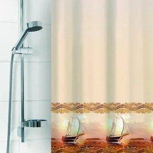 Штора для ванной комнаты 180х180см полиэстер