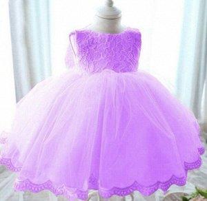 Детское платье, фиолетовое, с пышной юбкой