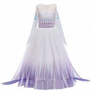 Детское платье,  фиолетовое и белое
