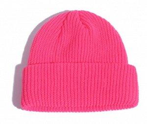 Шапка-бини розовая