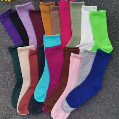 Street style модная мега-удобная одежда! Низкая цена! — Носки самых модных цветов — Носки
