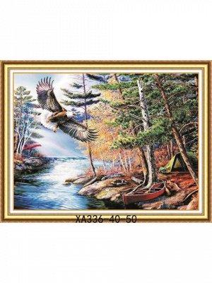 Орел над рекой