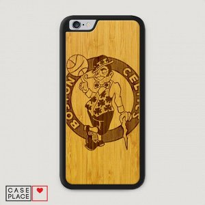 Деревянный чехол Boston Celtics графика на IPhone 6/6S Plus