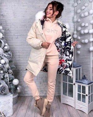Куртка двухсторонняя - Зима, бежевый