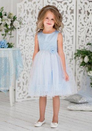 Рафаэла нарядное платье голубой