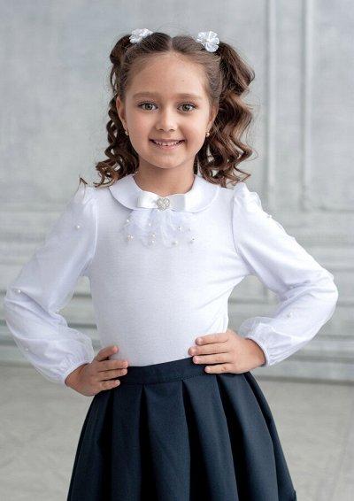 Одежда в школу для мальчиков! — Блузки трикотажные белые — Одежда для девочек