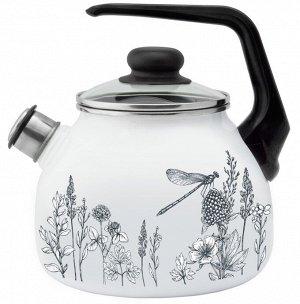 Чайник Чайник эмал 3,0л со свистком FLORA-2 ТМ Appetite Материал: эмалированная сталь Торговая марка: Appetite Источник тепла: Все виды плит Внутреннее покрытие: эмаль Внешнее покрытие: эмаль
