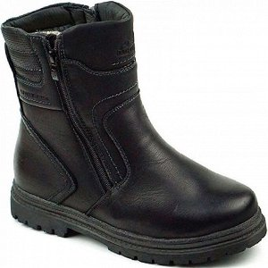 312-1A черн Ботинки зима для мальчиков (36-41)/8