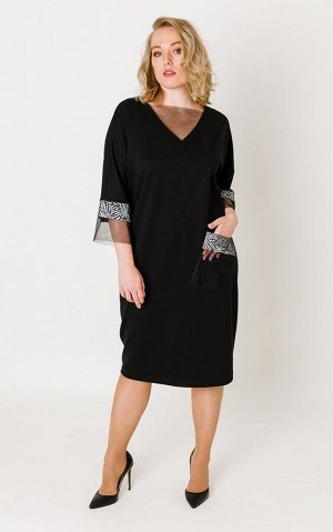 Платье Черный Коллекция: Осень/Зима Состав: Вискоза 68%, нейлон 27%, спандекс 5%