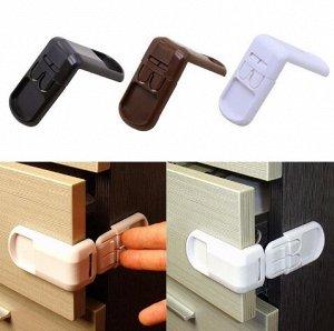 Блокиратор угловой пластмассовый/ Блокиратор для тумбочек и шкафов