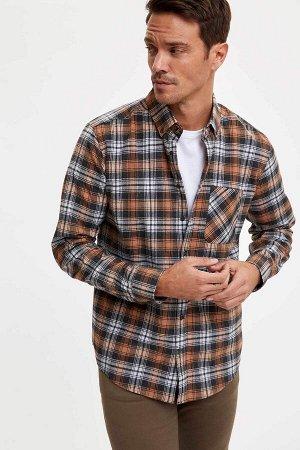 рубашка Размеры модели: рост: 1,89 грудь: 100 талия: 81 бедра: 97 Надет размер: L  Хлопок 17%, Полиэстер 73%, Вискоз 10%