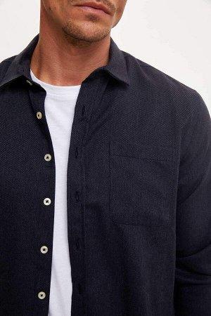 рубашка Размеры модели: рост: 1,89 грудь: 100 талия: 81 бедра: 97 Надет размер: L  Акрил 25%, Хлопок 60%, Полиэстер 15%