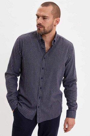 рубашка Размеры модели: рост: 1,82 грудь: 98 талия: 81 бедра: 96 Надет размер: M  Полиэстер 40%, Хлопок 60%