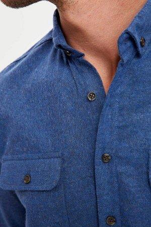 рубашка Размеры модели: рост: 1,89 грудь: 100 талия: 81 бедра: 97 Надет размер: M  Хлопок 30%, Полиэстер 58%, Вискоз 12%