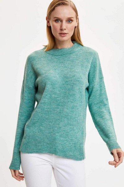 DEFACTO- осенняя подборка - платья, свитеры, кардиганы.  — Свитеры, джемперы синей и зеленой гаммы — Свитеры