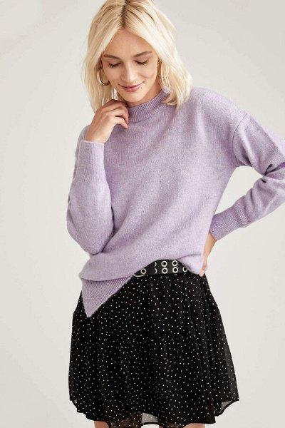 DEFACTO- осенняя подборка - платья, свитеры, кардиганы.  — Свитеры антрацит, фиолетовый, серый — Джемперы