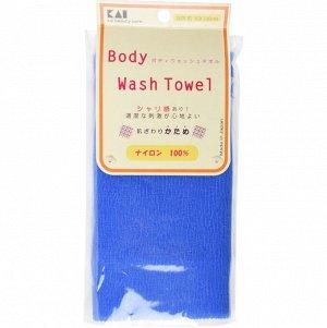 """Body Wash Towel"" Мочалка для тела жесткая (синяя)"