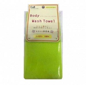 """""""Body Wash Towel"""" Мочалка для тела жесткая (салатовая)"""
