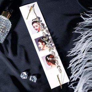 "Аксессуар для волос ""Джиллиан"" цветок 27 см, золото"