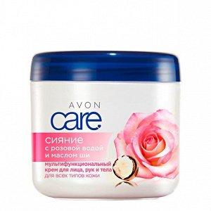 """Мультифункциональный крем с розовой водой и маслом ши """"Сияние"""", 400 мл"""