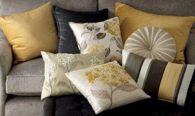 Текстиль для кухни и ванной комнаты. — Декоративные подушки. — Подушки