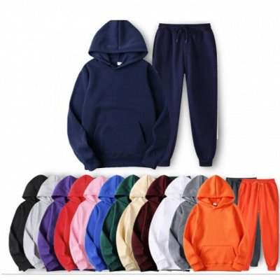 Street style модная мега-удобная одежда! Низкая цена! — Костюмы толстовка+штаны — Костюмы с брюками