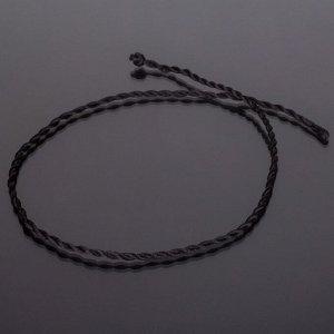 Шнурок для кулона черный