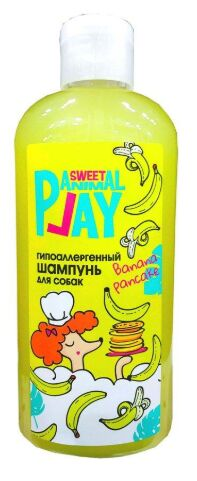 Animal Play шампунь для собак Гипоаллергенный Банановый панкейк 300мл
