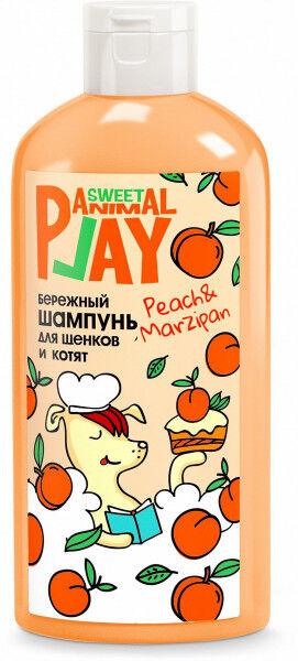Animal Play шампунь для щенков Бережный Персиковый марципан 300мл