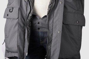 Мужской пуховик т.синий (без меховой опушки)