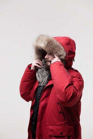 Мужской пуховик т.красный (без меховой опушки)