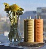 Медовые свечи из вощины с маслом - АПЕЛЬСИНА - 1шт.