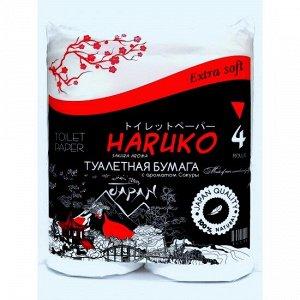 Бумага туалетная Haruko, с ароматом Сакуры, 4 шт., 440 гр.