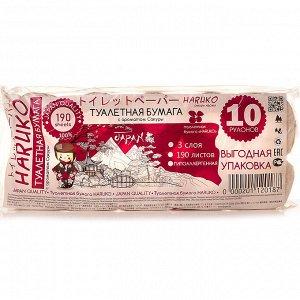 Бумага туалетная Haruko, Фиолетовая, аромат Сакуры, упаковка 10 шт, 110 гр.