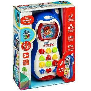 Игрушка развивающая пласт. телефон Bondibon, МИНИ СОТИК, BOX