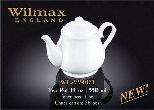 WILMAX 3.Чайник заварочный 550мл в п.у. WL-994021 1C