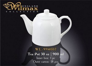WILMAX 1.Чайник заварочный 900мл, в п.у. WL-994007 1C